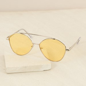 5068Y Curved Bar Aviator Sunglasses