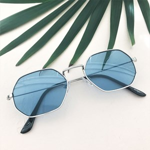 5070C Coloured Lens Shaped Sunglasses