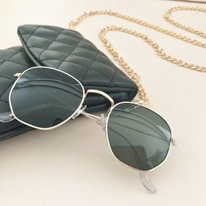5072A Shaped Metal Framed Sunglasses