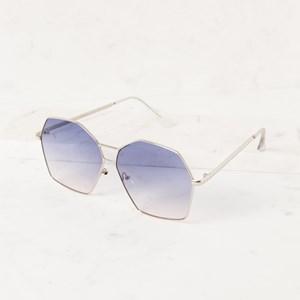 5076CO Large Shaped Metal Frame Sunglasses