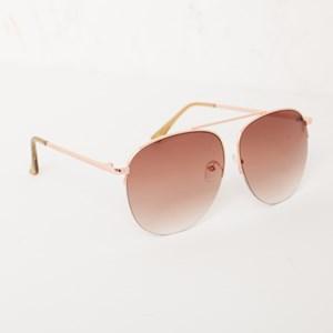 5083A Gold Half Metal Frame Aviator Sunglasses