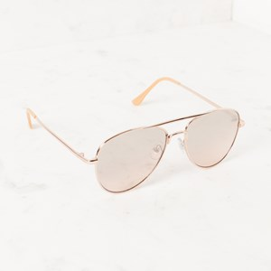 5091A Gold Graduated Colour Aviator Sunglasses