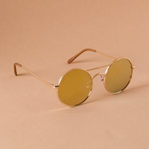 5100AR Gold Round Metal Frame Sunglasses