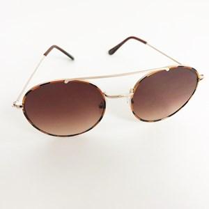 5120E Farrah Tort Round Sunglasses