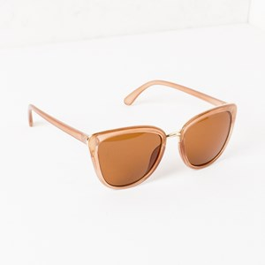 7362A Pointed Frame Reflective Sunglasses