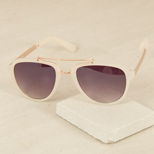 7491W Nude Frame Bar Front Sunglasses
