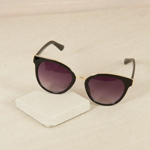 7493B Oversized Black Frame Sunglasses