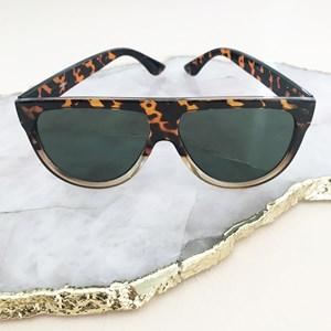 7605AC Flat Top Frame Sunglasses