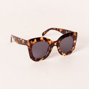 7606E Large Fashion Frame Sunglasses