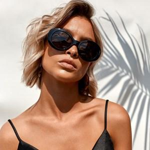 7635B Amalfi Round Sunglasses