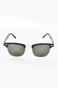 8703B Black Half Frame Sunglasses