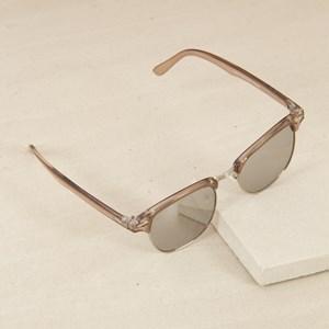 8703FM Half Metal Frame Square Sunglasses