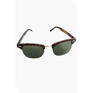 8703D Tort Half Frame Sunglasses
