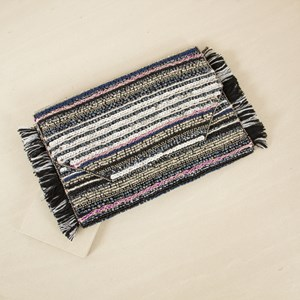 Sequined Fringe Edge Flapover Clutch