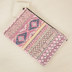 Candy Diamond Beaded Clutch