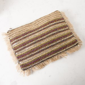 Cleopatra Bead Mix Fringe Edge Clutch
