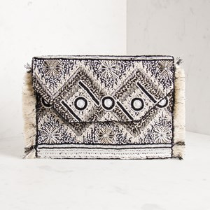 Diamonds in the Sky Beaded Flap Over Clutch