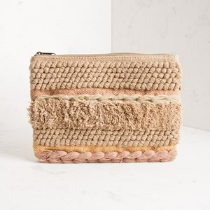 Loop and Shag Woven Clutch