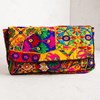 Rainbow Patchwork Fold Over Clutch - pr_60172