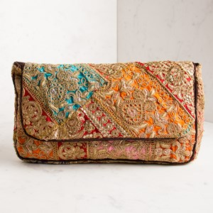 Vintage Blanket Fold Over Clutch