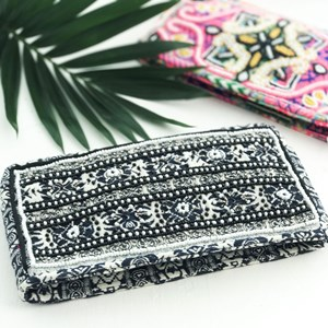 Galaxy Striped Beaded Rectangle Clutch