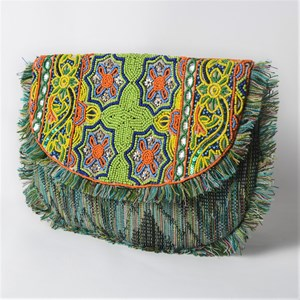 Eastern Fringed Curved Clutch