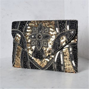 Marrakech Sequin Flap Over Clutch