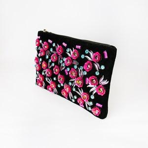 Mini Rose Garden 3D Zip Top Clutch