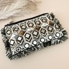 Earthy Mirrors & Beads Fringe Edge Pouch - pr_62312