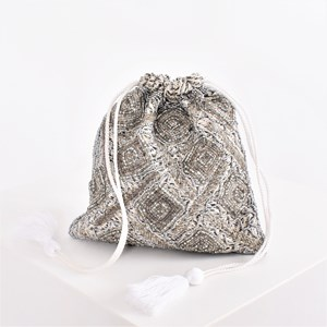 Bugle Beads Drawstring Small Bag