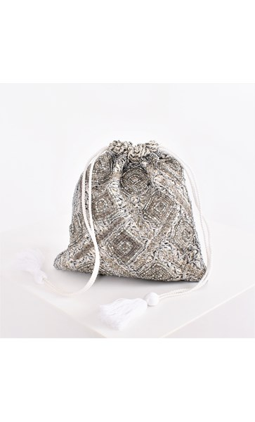 Bugle Beads Drawstring Small Bag