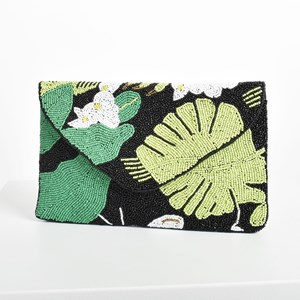 Jungle Lovin Beaded Clutch