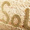 Soleil Beaded Natural Weave Clutch - pr_68170