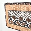 Beaded Reptile Panel Rattan Clutch - pr_70732