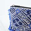 Moroccan Tile Beaded Fringe Edge Pouch - pr_67137