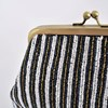 Beaded Stripes Framed Purse Clutch - pr_66117