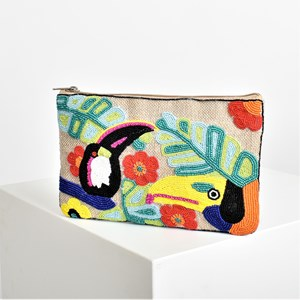 Tropical Jungle Bead Front Clutch