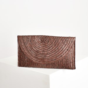 Classic Straw Flap over Clutch