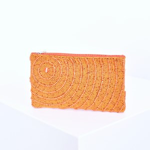 Off Centre Circle Beaded Pouch
