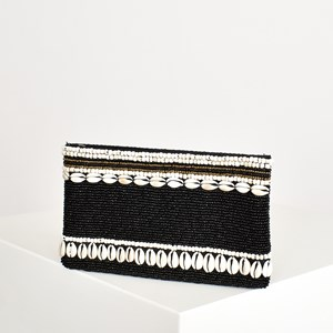 Bead and Shell Rows Pouch