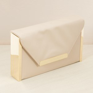Thick Metal Edge Flap Over Box Clutch
