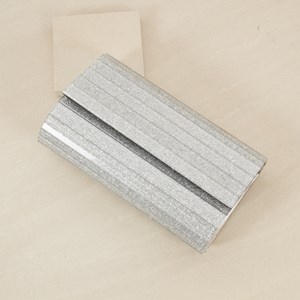 Glitter Resin Fold Over Structured Clutch