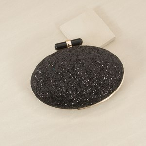 Confetti Glitter Resin Rod Oval Structured Clutch