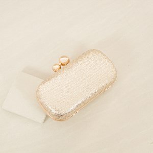 Mini Diamond Glitter Double Ball Top Clutch