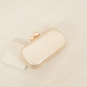 Mini Diamond Glitter Double Ball Top Clutch