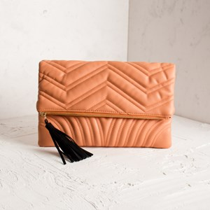 Fold Over Zig Zag Quilt Clutch