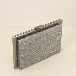 Glitter Raised Metal Edge Framed Clutch