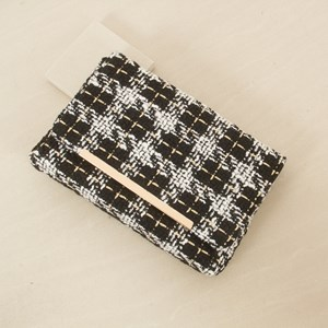 Gold Weave Boucle Clutch
