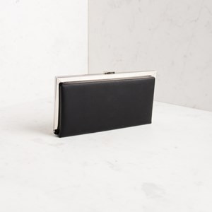 Long Raised Metal Edge Framed Clutch