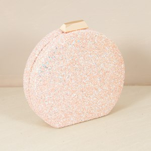 Round Glitter Clutch